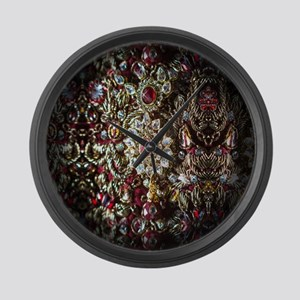 Indian Diamond and Ruby Large Wall Clock