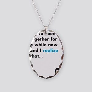 Its time... Necklace Oval Charm