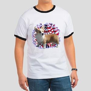 Corgi Patriotic Ringer T