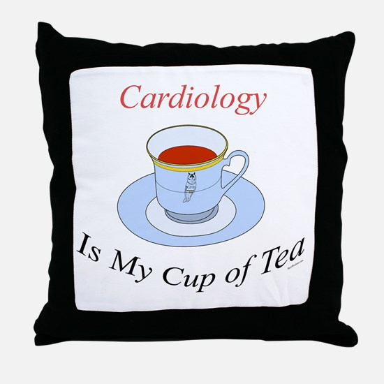 Cardiology is my cup of tea Throw Pillow