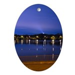 Lake at night Ornament (Oval)