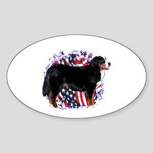 Berner Patriotic Oval Sticker