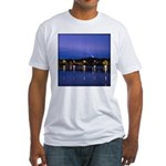 Lake at night Fitted T-Shirt
