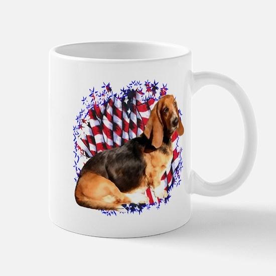 Basset Patriotic Mug
