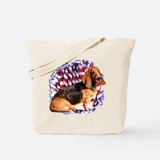 Basset Patriotic Tote Bag
