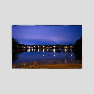 Lake at night 3'x5' Area Rug