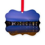 Lake at night Picture Ornament