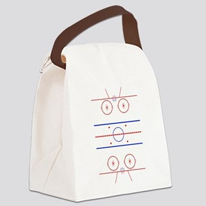 Ice Rink Canvas Lunch Bag