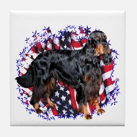 Gordon Patriotic Tile Coaster