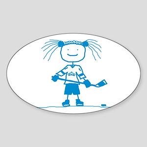 Stick Hockey (Ice Princess) Oval Sticker