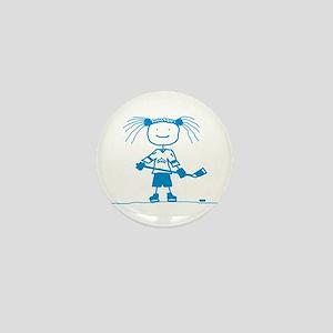 Stick Hockey (Ice Princess) Mini Button