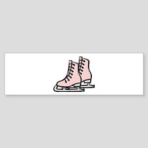 Ice Skate Bumper Sticker