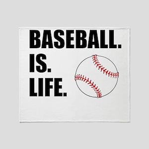 Baseball Is Life Throw Blanket