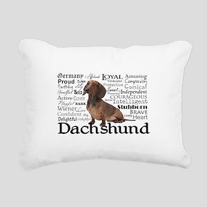 Dachshund Traits Rectangular Canvas Pillow