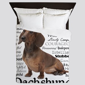 Dachshund Traits Queen Duvet