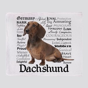 Dachshund Traits Throw Blanket