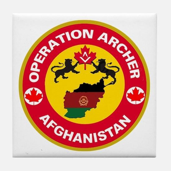 Operation Archer Tile Coaster