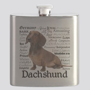 Dachshund Traits Flask