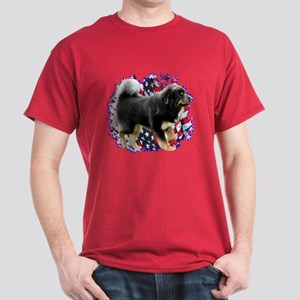 Tibetan Mastiff Patriotic Dark T-Shirt