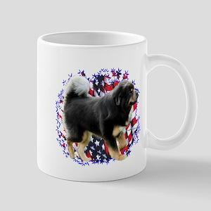 Tibetan Mastiff Patriotic Mug