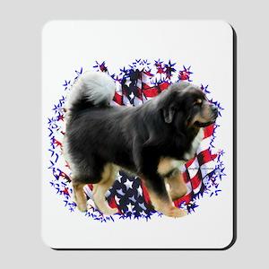 Tibetan Mastiff Patriotic Mousepad