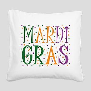 MARDI GRAS Square Canvas Pillow