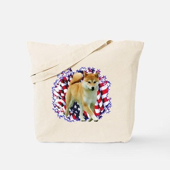 Shiba Patriot Tote Bag