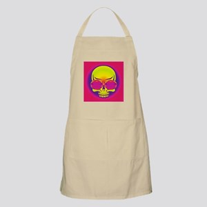 Pink Shades On Yellow Skull Apron