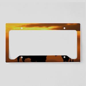 bison sunset License Plate Holder