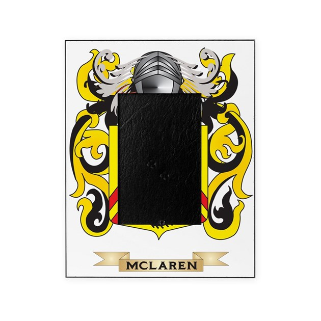 Mclaren Coat Of Arms Family Crest Picture Frame By Admin