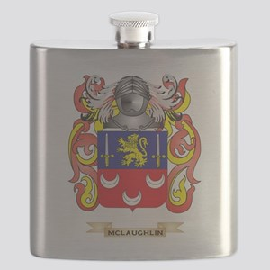 McLaughlin Coat of Arms - Family Crest Flask