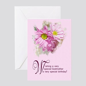 Godmother birthday greeting cards cafepress for a godmother a birthday card with daisies gree bookmarktalkfo Gallery