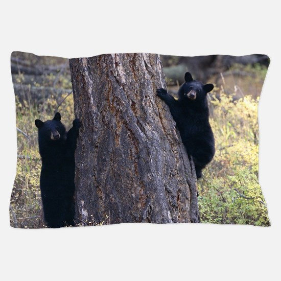 black bear cubs Pillow Case