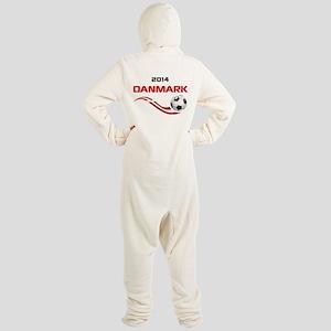 Soccer 2014 DANMARK Footed Pajamas
