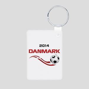 Soccer 2014 DANMARK Aluminum Photo Keychain