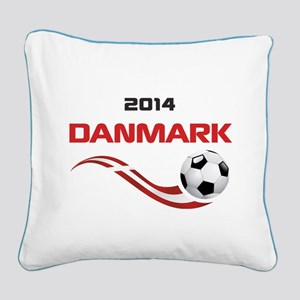 Soccer 2014 DANMARK Square Canvas Pillow