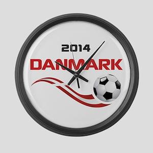 Soccer 2014 DANMARK Large Wall Clock
