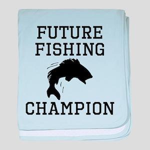 Future Fishing Champion baby blanket