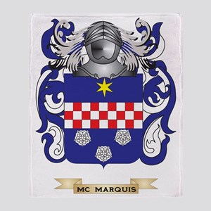 Mc-Marquis Coat of Arms - Family Cre Throw Blanket