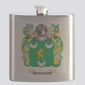 McManus Coat of Arms - Family Crest Flask