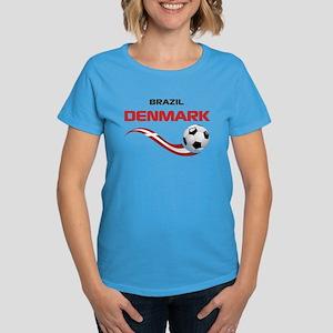 Soccer 2014 DENMARK Women's Dark T-Shirt