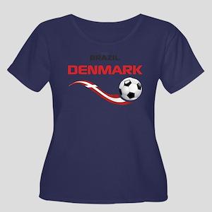 Soccer 2014 DENMARK Women's Plus Size Scoop Neck D