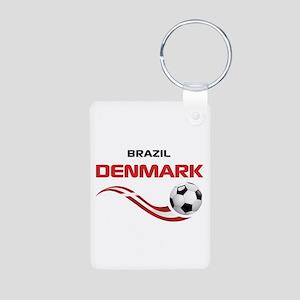 Soccer 2014 DENMARK Aluminum Photo Keychain