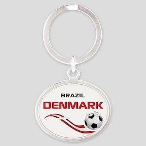 Soccer 2014 DENMARK Oval Keychain