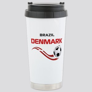 Soccer 2014 DENMARK Stainless Steel Travel Mug