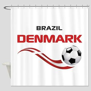 Soccer 2014 DENMARK Shower Curtain