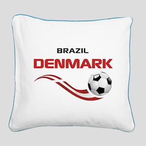 Soccer 2014 DENMARK Square Canvas Pillow