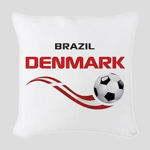 Soccer 2014 DENMARK Woven Throw Pillow