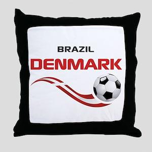 Soccer 2014 DENMARK Throw Pillow