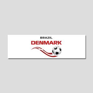 Soccer 2014 DENMARK Car Magnet 10 x 3